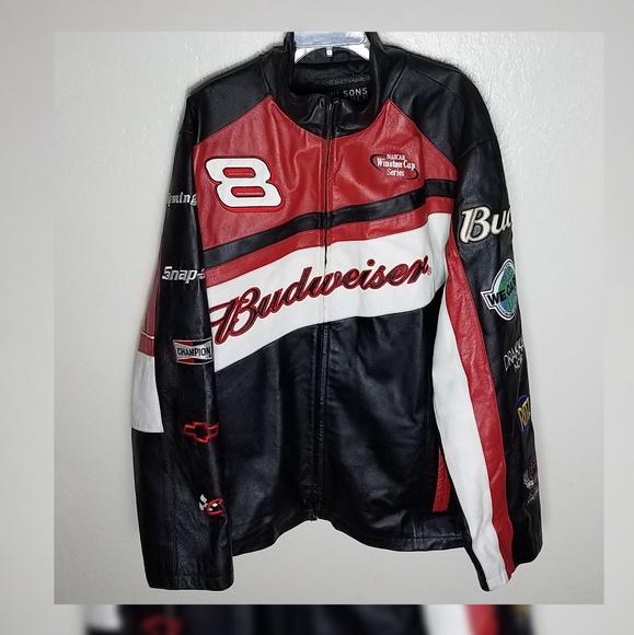 Wilsons Leather Jackets Coats Budweiser Nascar Jacket Poshmark